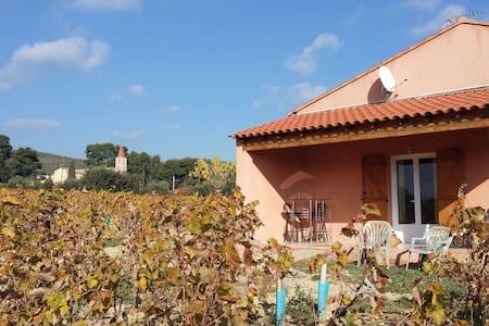 """Chambres d'hôtes situées """"Au Milieu des Vignes """" - Le Castellet - 独立屋"""