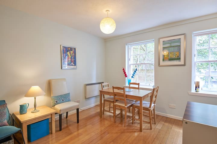 Light and airy dining section