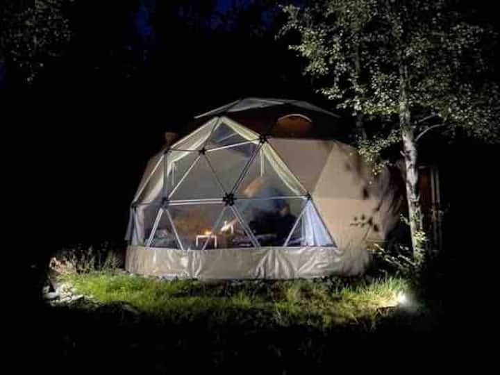 Glamping Nordland in Arctic Dome