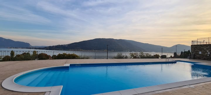 Appartamento in residence con piscina Lago d'Iseo