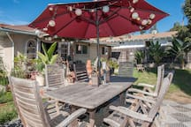 Large outdoor patio table to enjoy a nice meal or turn it into your outdoor office.