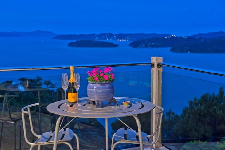 Stunning views, luxury, private, heated pool.