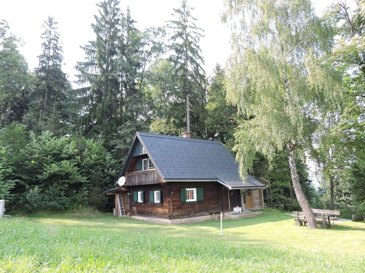 Die Hütte im Juli 2016.   The cottage in July 2016.