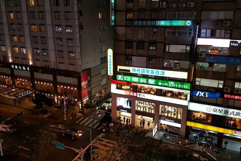 台北最熱鬧的東區商圈正中心