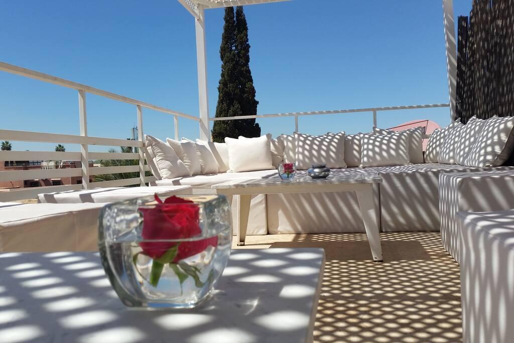 Terrasse du Riad Vendôme & Spa