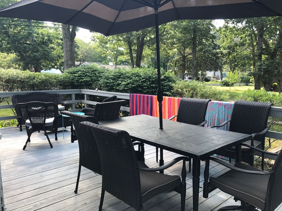 Private deck with seating for all!