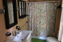 Full sized tub in private bathroom