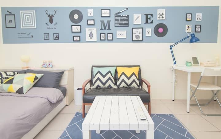 Life House-C 近園區/清大/交大/新莊火車站,背包客&差旅,面試,考試,清新舒適的好選擇