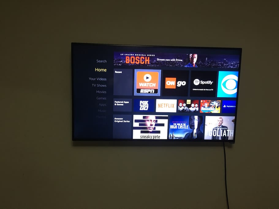55 inch 4K smart tv in your bedroom with an unlocked Amazon Firestick