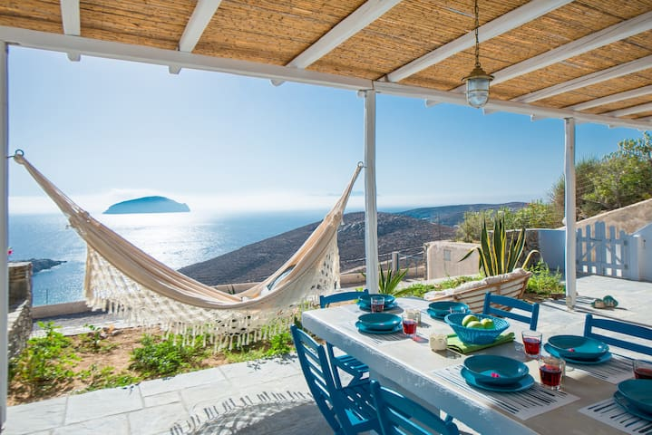 Villa Azzuro, view to the sea, Serifos, Greece - Serifos - Villa