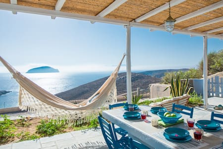 Villa Azzuro, view to the sea, Serifos, Greece - Serifos - Casa de camp
