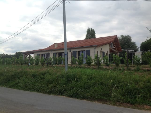 View of the property from the road on arrival.