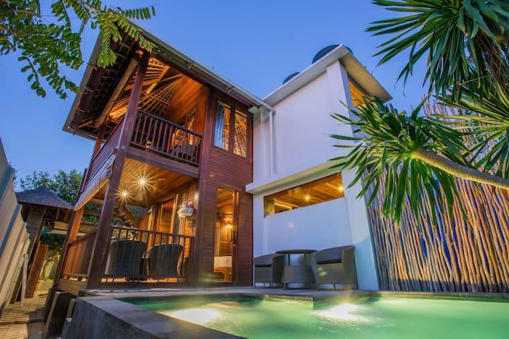 Kembang Villa, an island getaway with beach access