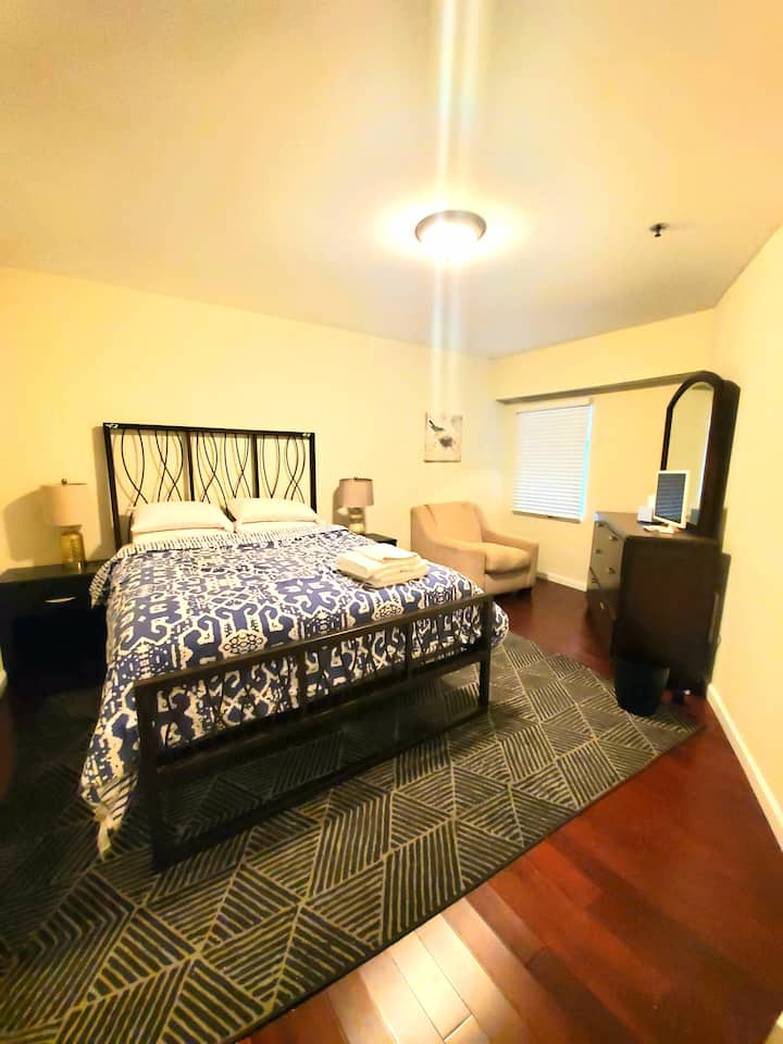 ~New!~ Private Room, Private Bath in Apt Downtown