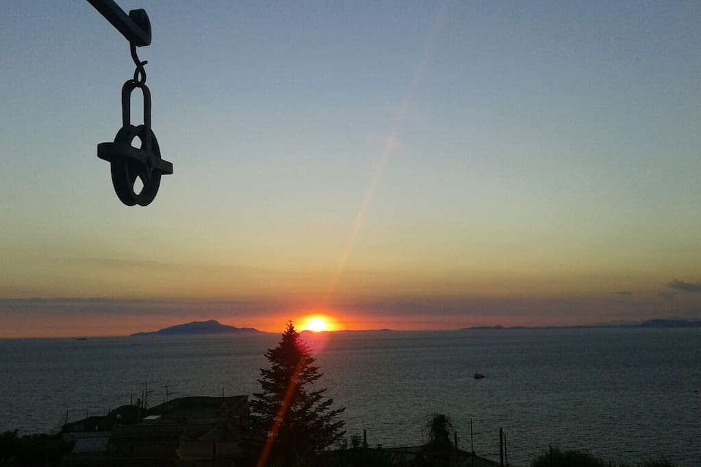 Dreamful sunset from the private terrace...