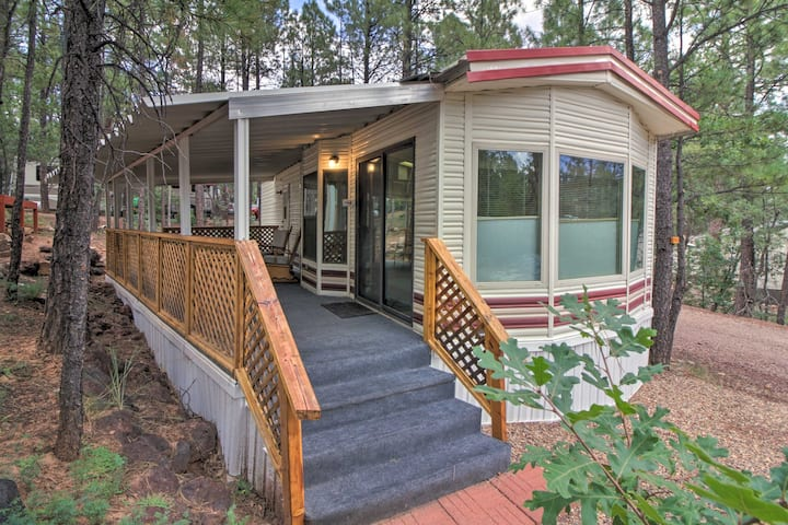 Hike, Bike, & Fish in Show Low - Resort Cabin