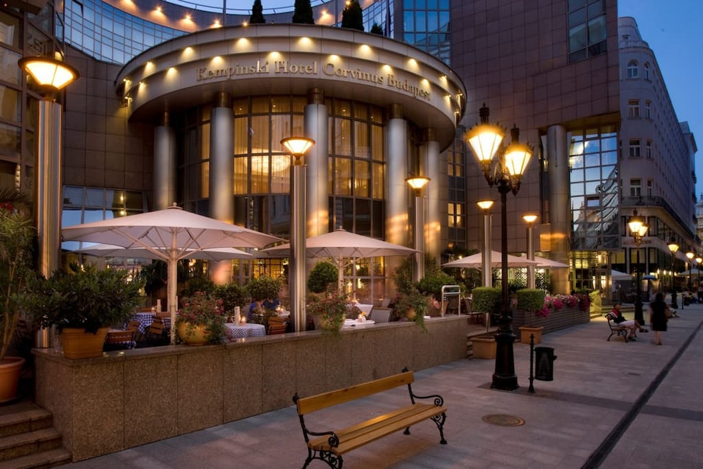 Corvinus Kempinski Hotel, just steps away and my apartment is a lot cheaper! :)