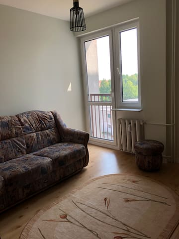 Bedroom with a sofa bed
