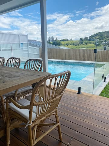 Spacious home with a pool & gym - convenient spot