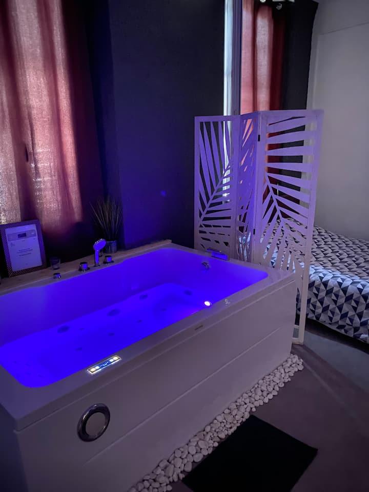 Appartement privé avec jacuzzi privé