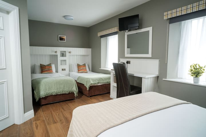 Privately accessed family room to sleep 4.