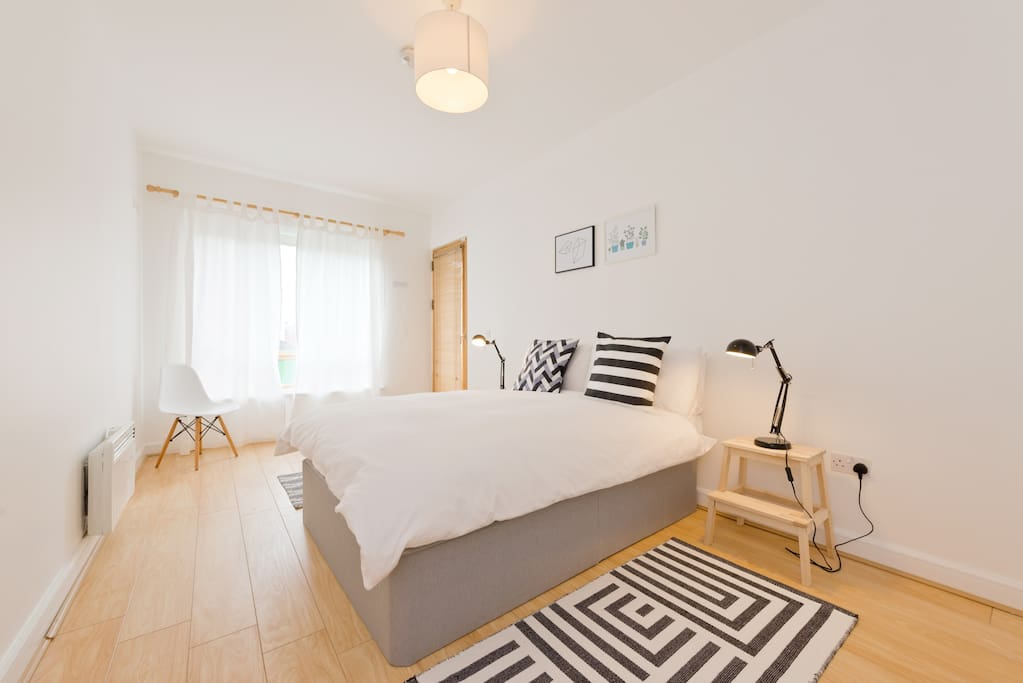 Bedroom 1  Sleep well in bedroom with its double bed with high quality bed linen and en-suite bathroom with shower.