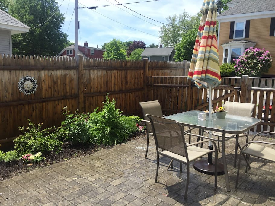 Patio for outdoor meals