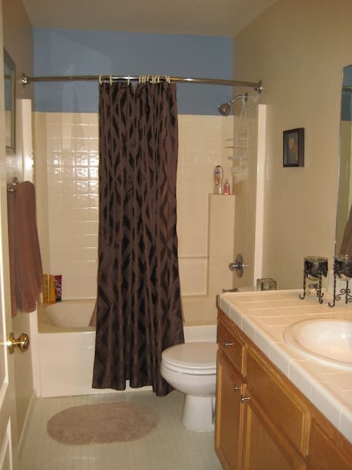 Guest bathroom w/shower & bath tub