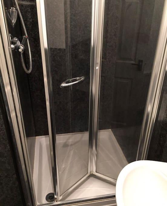 Shower in ensuite bathroom