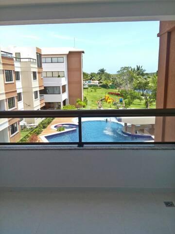Apartamento 2/4 em guarajuba frente para lago - Camaçari - Apartamento