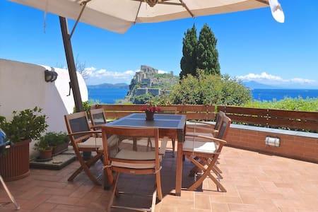 Luxury apt, breathtaking sea view - Ischia