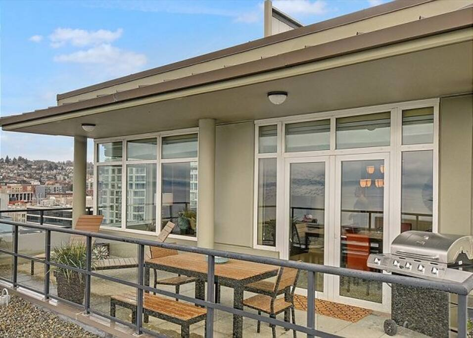 Enjoy the Seattle weather on the deck!