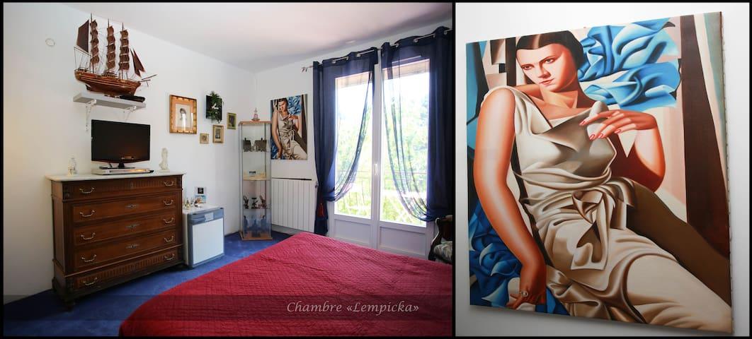 Chambre LEMPICKA sur jardin - Lédenon - Bed & Breakfast