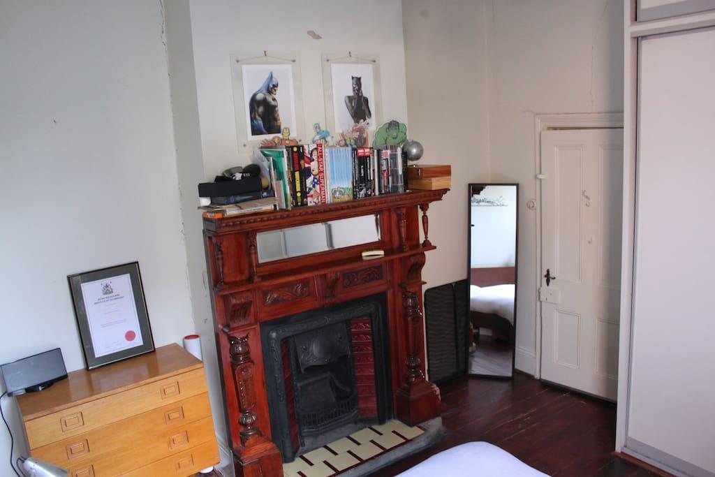 Victorian features in main bedroom