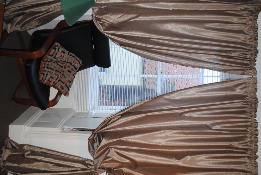 corner window, showing pantiled roof opposite