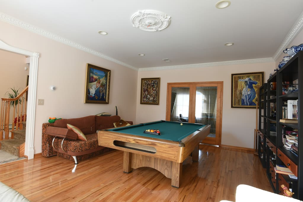 Billiard Room with fold out couch, sleeps 2 ppl.