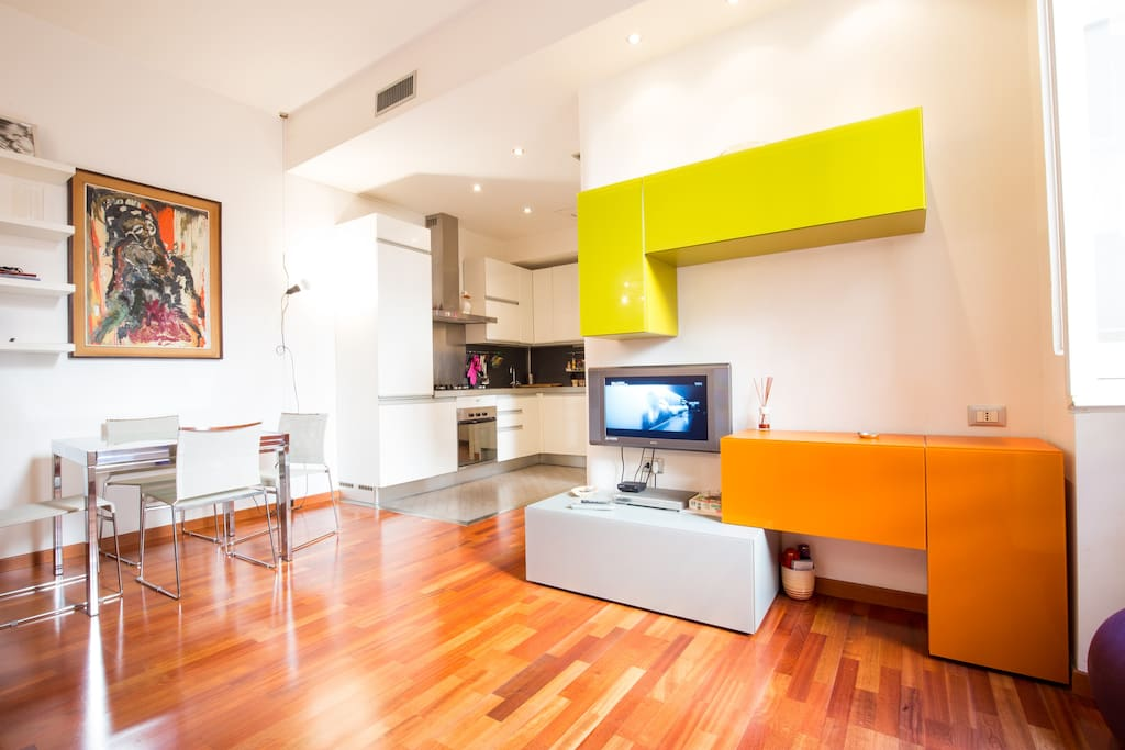 Luxury Apartment in the Center of Rome - Large Living Room