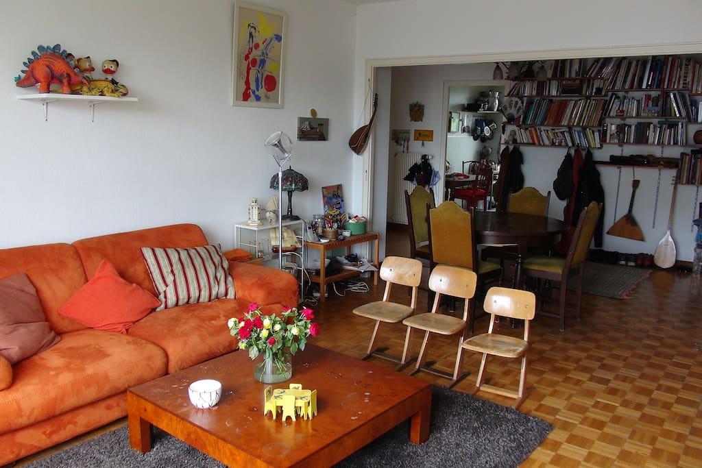Un grand salon de 45 m2 très confortable