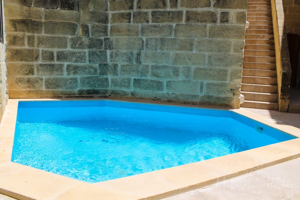 Intimate dipping pool (13 sqr meters)