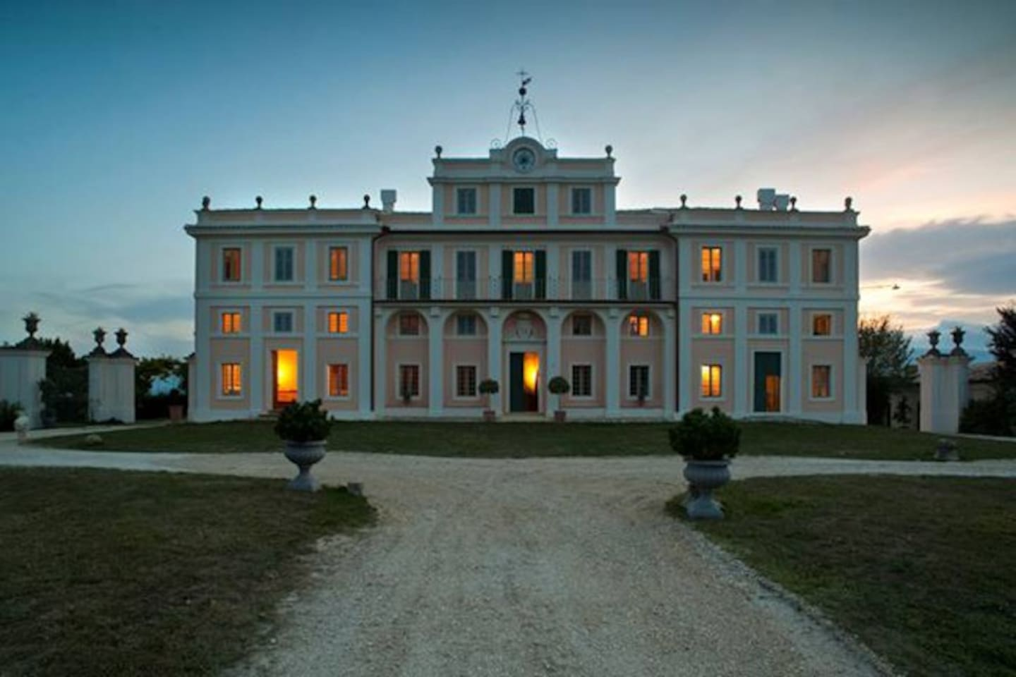 The Villa at Sunset