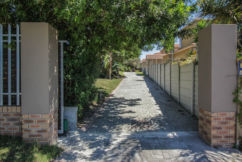 Driveway to parking area