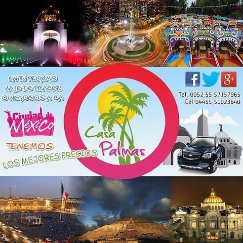 Ven a Casa Palmas en tu viaje a Méx - Tecámac de Felipe Villanueva - Dom