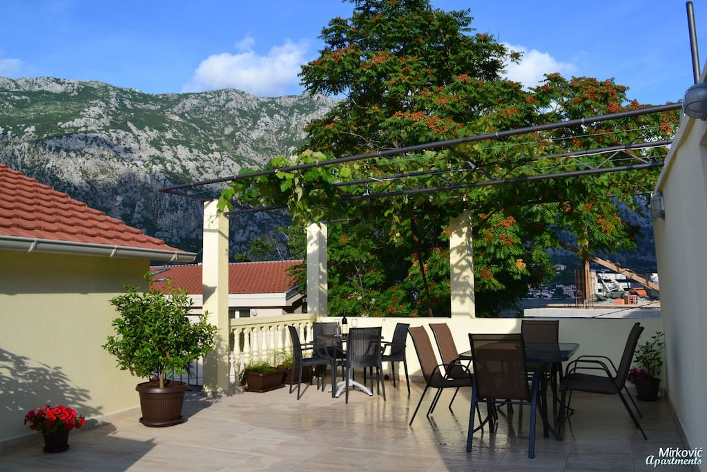 Wonderful terrace, ideal for a glass of wine