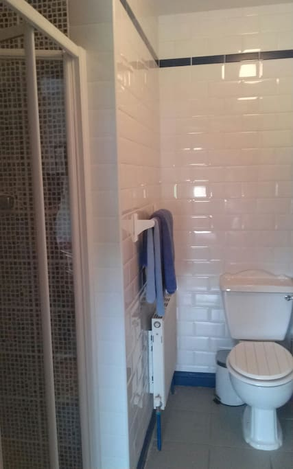 Private en suite with power shower.