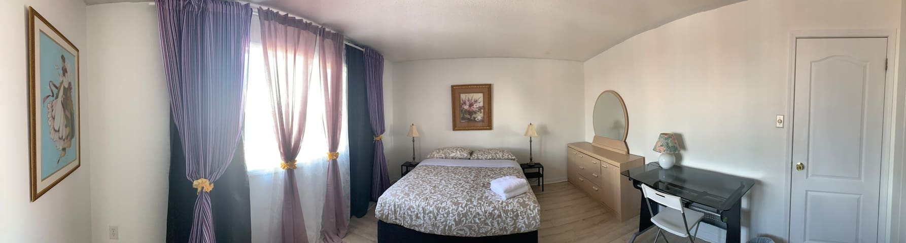 Queen Size Master Bedroom with Private Washroom