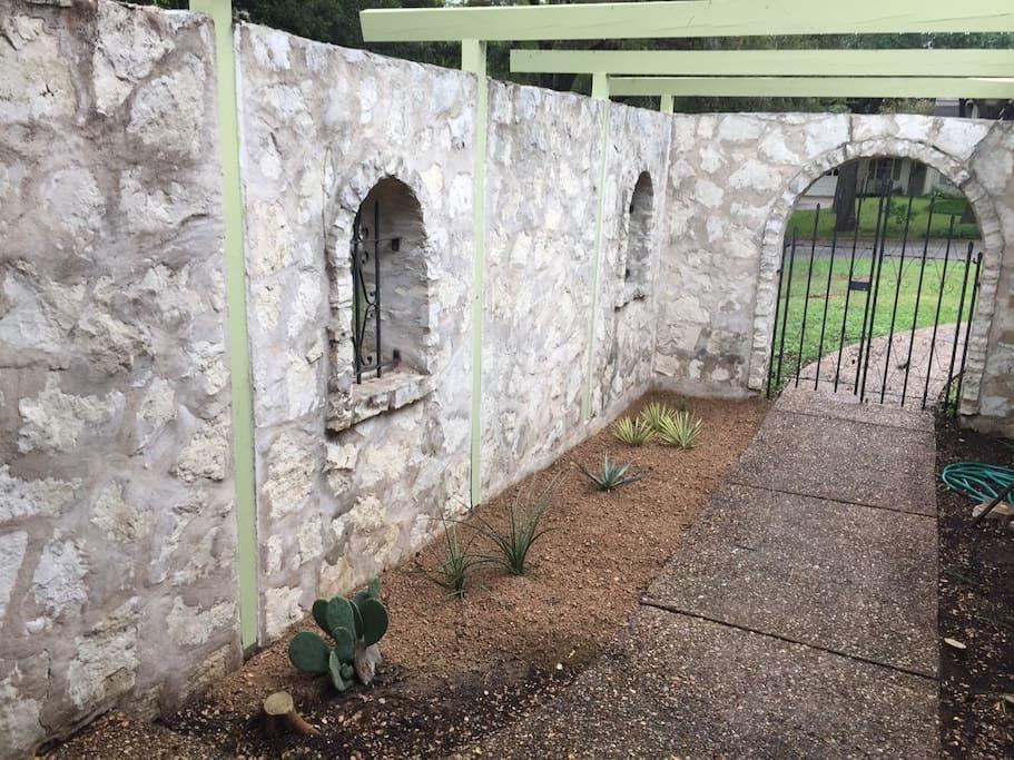 Entryway and cactus garden