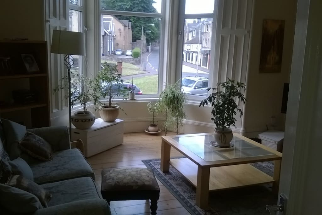 Lounge with view to front of building. This is a lovely, bright room with great natural light.
