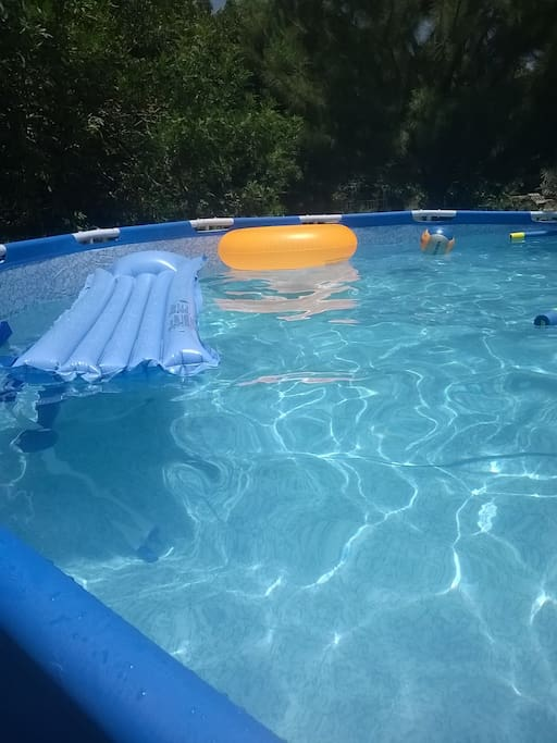 our privet pool at summer time
