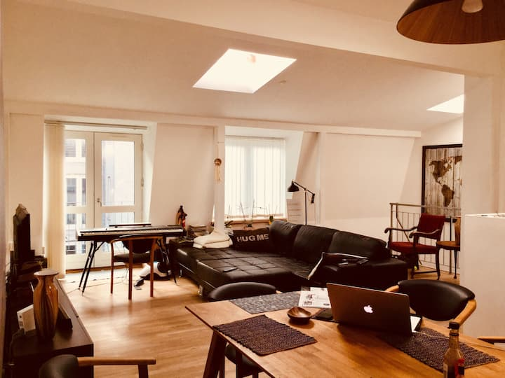 Lovely loft in Aarhus city center