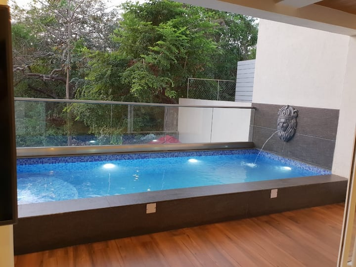 A Luxury 3BHK Duplex Apartment with a Private Pool